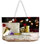 Wrapped Gifts With Tags Weekender Tote Bag