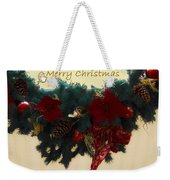 Wreath Garland Greeting Weekender Tote Bag by DigiArt Diaries by Vicky B Fuller