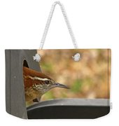 Wren Peeking Out Weekender Tote Bag