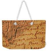 Writing Weekender Tote Bag