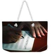 Writing Music Weekender Tote Bag