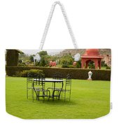 Wrought Metal Chairs Around A Table In A Lawn Weekender Tote Bag