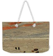 Wyoming Red Cliffs And Buffalo Weekender Tote Bag