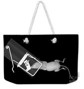 X-ray Of A Mouse Caught In A Trap Weekender Tote Bag