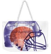X-ray Of Head In Football Helmet Weekender Tote Bag
