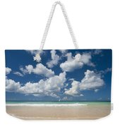 Yacht In The Distance Off The West Weekender Tote Bag