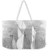 Yacht Race, 1855 Weekender Tote Bag