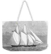 Yacht: Sappho, 1868 Weekender Tote Bag