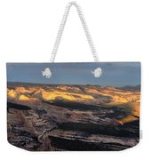 Yampa Bench Sunset One Weekender Tote Bag