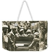 Yankee Soldiers Around A Piano Weekender Tote Bag by Photo Researchers