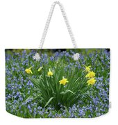 Yellow And Blue Flowers Weekender Tote Bag