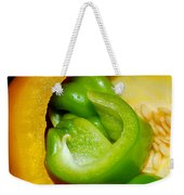 Yellow And Green Nested Pepper Weekender Tote Bag