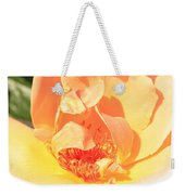 Yellow And Peach Rose Weekender Tote Bag