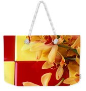 Yellow And Red Orchids  Weekender Tote Bag