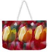 Yellow And Red Tulip Blooms Weekender Tote Bag