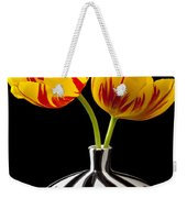 Yellow And Red Tulips Weekender Tote Bag