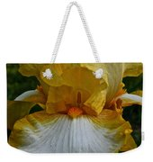 Yellow And White Iris Weekender Tote Bag