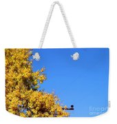 Yellow Autumn Tree Weekender Tote Bag