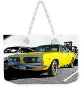 Yellow Barracuda Weekender Tote Bag