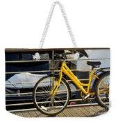Yellow Bicycle Weekender Tote Bag