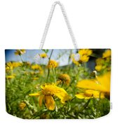 Yellow Blooming Wildflowers Weekender Tote Bag