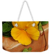 Yellow Blossom On Planter Weekender Tote Bag