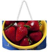 Yellow Bowl Of Strawberries Weekender Tote Bag