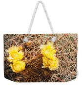 Yellow Cactus Flowers Weekender Tote Bag