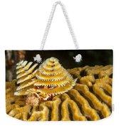 Yellow Christmas Tree Weekender Tote Bag