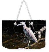 Yellow Crowned Night Heron II Weekender Tote Bag