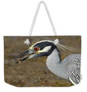 Yellow Crowned Night Heron With Catch Weekender Tote Bag