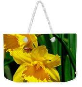 Yellow Daffodils And Honeybee Weekender Tote Bag