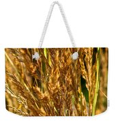 Yellow Feather Reed Grass Weekender Tote Bag