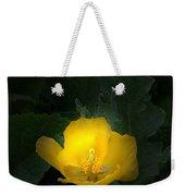Yellow Flower Against Green Weekender Tote Bag