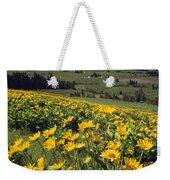 Yellow Flowers Blooming, Hood River Weekender Tote Bag