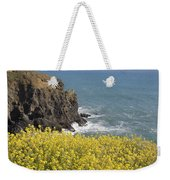 Yellow Flowers On The Northern California Coast Weekender Tote Bag