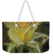 Yellow Fractalius Rose Weekender Tote Bag