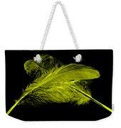 Yellow Ghost On Black Weekender Tote Bag