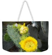 Yellow Lace Unveiled Weekender Tote Bag
