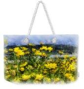 Yellow Landscape Weekender Tote Bag