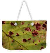 Yellow Leaf With Red Spots 2 Weekender Tote Bag