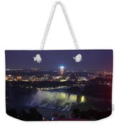 Yellow Light Over The Niagara Falls  - Canada Weekender Tote Bag