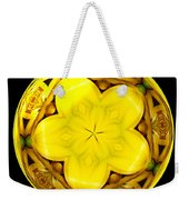 Yellow Lily Kaleidoscope Under Glass Weekender Tote Bag