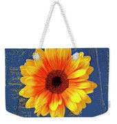 Yellow Mum In Yellow Vase Weekender Tote Bag