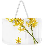 Yellow Orchid Bunchs Weekender Tote Bag by Atiketta Sangasaeng