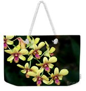 Yellow Orchid Cascade Weekender Tote Bag