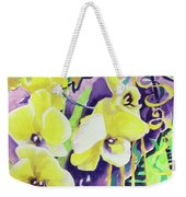Yellow Orchids Of The Heart Weekender Tote Bag