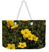 Yellow Potentilla Or Cinquefoils  Weekender Tote Bag