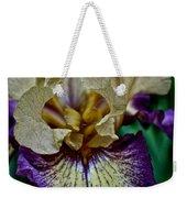 Yellow  Purple Iris Weekender Tote Bag