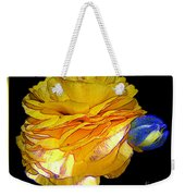 Yellow Ranunculus Flower With Blue Colored Edges Effect Weekender Tote Bag